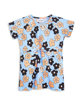 FLOWERS TEE DRESS, lt. Blue -  - 1715011150 - 1