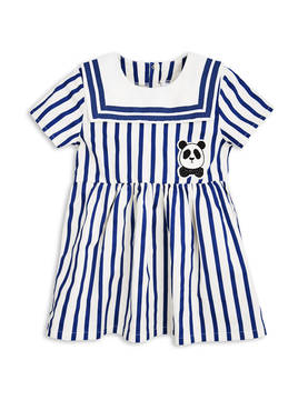 STRIPE WOVEN SAILOR DRESS, blue -  - 1715011960 - 1