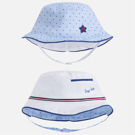 Reversible hat, white -  - ma1l973090 - 1