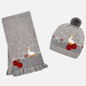 Hat-scarf set, grey -  - ma4a10460 - 1