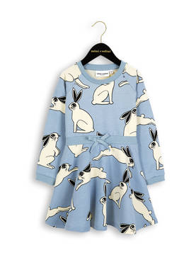 RABBIT FLARED DRESS, lt.blue - - 1674014950 - 1