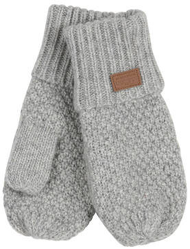 Lamb wool mittens, light grey melange -  - melton17aw21 - 1