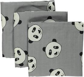 Burp cloth w. panda face, wilde dove -  - smaaw17738611 - 1