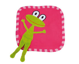 Frog mini blanket, cerise -  - lipfish741 - 1