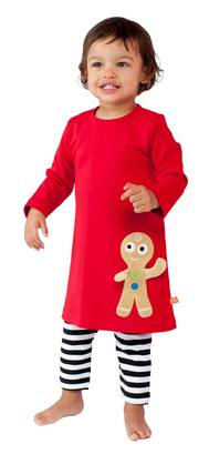 Ginger man dress, xmas red -  - LFAW1403b-1 - 1