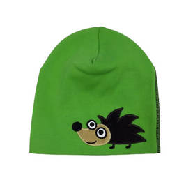 Hedgehog beanie, green -  - AW15007-1