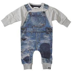 Japanese Denim soft bodysuit, Freddy -  - 3W17B601 - 1
