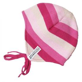 Knitted baby helmet, cerise mix -  - 269AW13-1 - 1