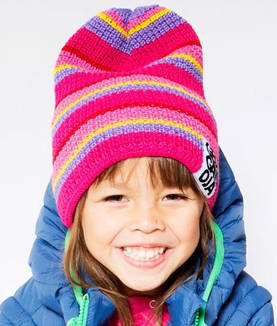 Knitted cap,cerise -  - AW14158142-1