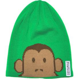 Knitted monkey cap, green -  - AW14351142-1 - 1