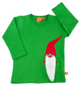 Pocket santa T-shirt, green -  - LFAW1403c-1 - 1