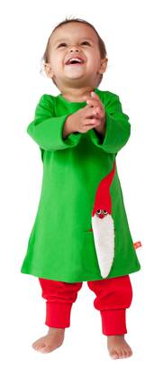 Pocket santa dress, green -  - LFAW1403-1 - 1