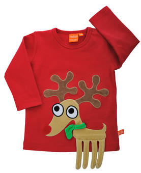Reindeer shirt, red -  - 12031-1 - 1