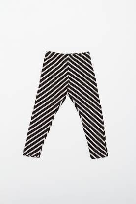 Stripe leggins, black/sand -  - ss16papu18-1 - 1