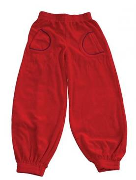 Velour baby pants,red -  - SMAF146-1 - 1