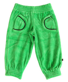 Velour pants baby, apple green -  - SMAF224b-1 - 1