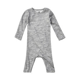 Wool/Bamboo jumpsuit, grey -  - celavi001 - 1