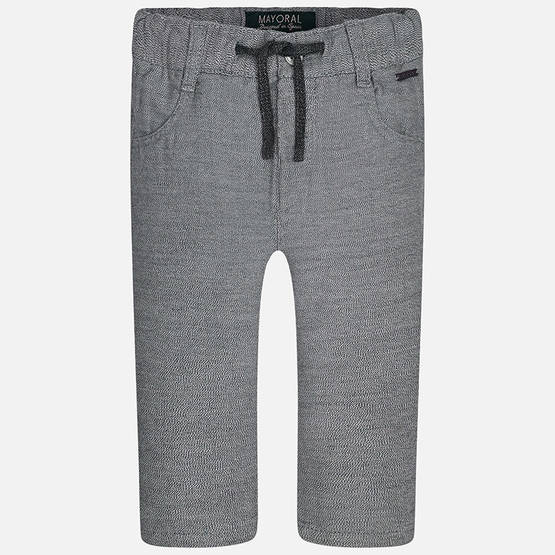 Combined knitted trousers, grey - Housut - 3G2573031 - 1