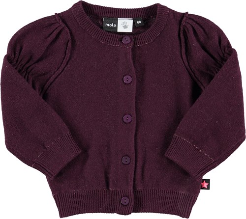 Gilberta cardigan, black grape - Neuleet - 4W15K301-1 - 1
