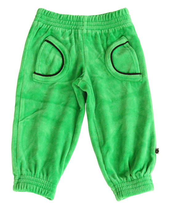 Velour pants baby, apple green - Housut - SMAF224b-1 - 1