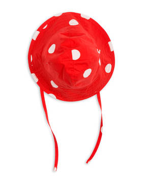 Dot sun hat, red -  - 1826511742 - 1