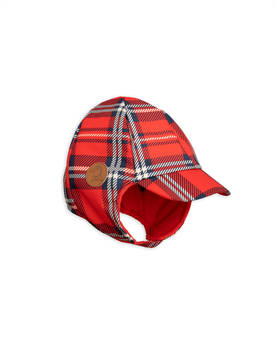Alaska check cap, red -  - 1876510042 - 1