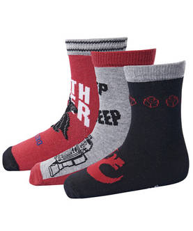 Ayan 750 3-pack socks, red -  - lego1719712
