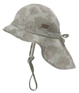 Summer hat w/neck& bow, moonstruck -  - melton510008412 - 1