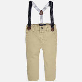 Chino pant with suspenders, sand -  - mayss17b012 - 1