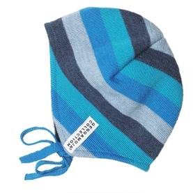 Knitted baby helmet, blue mix -  - 269AW13-2 - 1