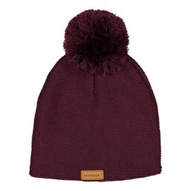 Knitted beanie, wine red -  - metsolawool12 - 1