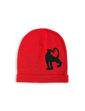 PANTHER SP WOOL BEANIE, red -  - 1776513742 - 1