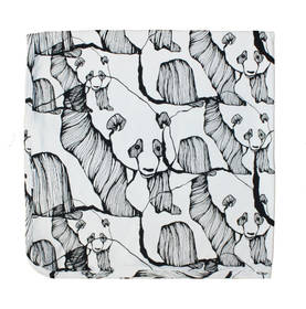 Panda Art blanket, black/white -  - mets-ss17-22 - 1