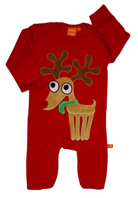 Reindeer jumpsuit, red -  - 12032-2 - 1
