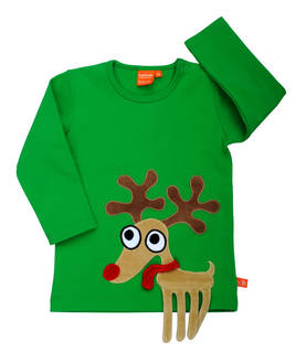 Reindeer shirt, green -  - 12031-2 - 1