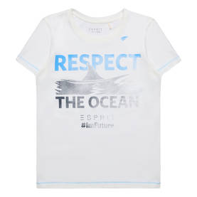 Respect the ocean T-shirt, white/blue -  - Espritrl1057602 - 1