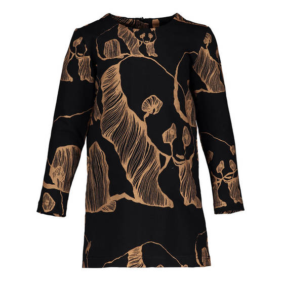 Panda Art dress, black/bronze - Mekot - metsolaaw17b02 - 1