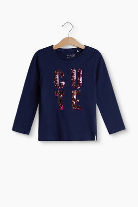 CUTE sequins shirt, dark blue -  - Espritrk10053 - 1