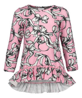 Bowtie dress frilla, pink -  - metsaw1703 - 1
