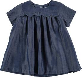 Charlotte dress ss, Chambrey blue -  - 4W17E103 - 1