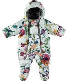Hebe Baby snowsuit, Flower Embroidery -  - 5W18N103