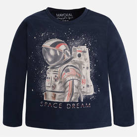 "L/s ""space dream"" t-shirt, silver -  - 5C4013043 - 1"