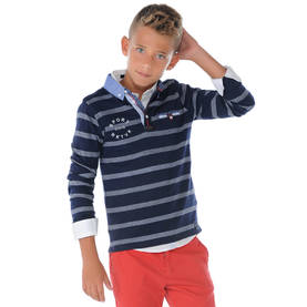 Striped polo, navy -  - mayss1763 - 1