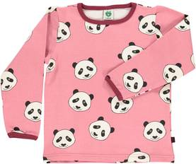 T-shirt with panda face, mesa rose -  - smafolkaw173 - 1