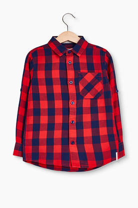 Chack shirt, red/blue -  - Espritrk12024 - 1