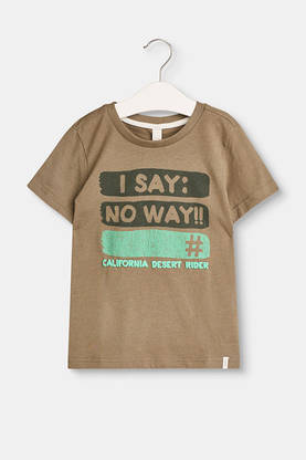 Print t-shirt, light khaki -  - espritrl1052404 - 1