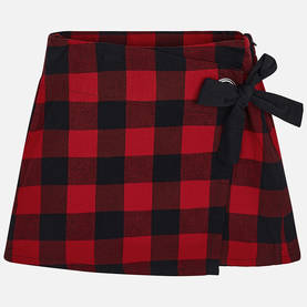 Check skirt, red -  - ma8f7914 - 1