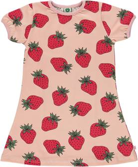 Dress with strawberry, silver pink -  - smafolkss17a4 - 1