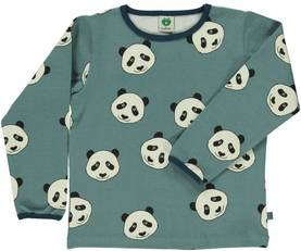 T-shirt with panda face, bluestone -  - smafolkaw174 - 1