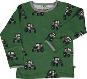T-shirt with tractor, Elm Green -  - smafolkaw1714 - 1
